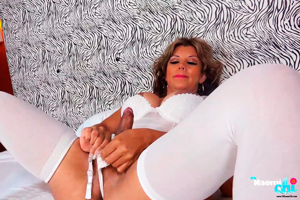 Naomi Chi in stockings